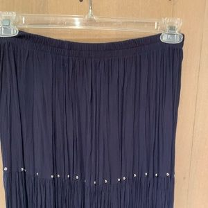 Dresses & Skirts - Navy blue pleated skirt with nailhead detail